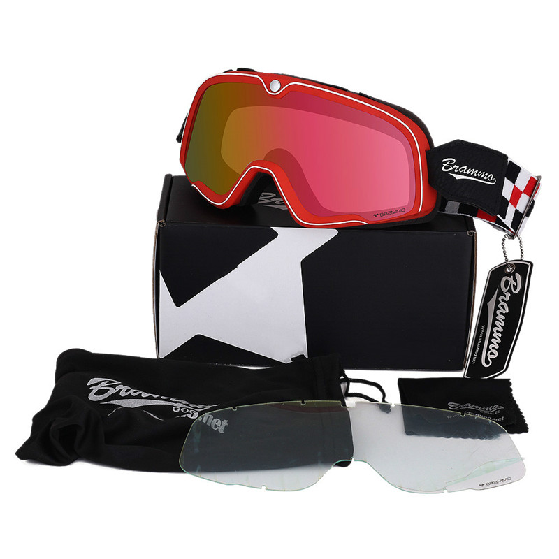 Retro Motocross Goggles ATV Dirt Bike Windproof Goggles Vintage Off Road Motorcycle Goggles Moto Casco Glasses With Spare Lens