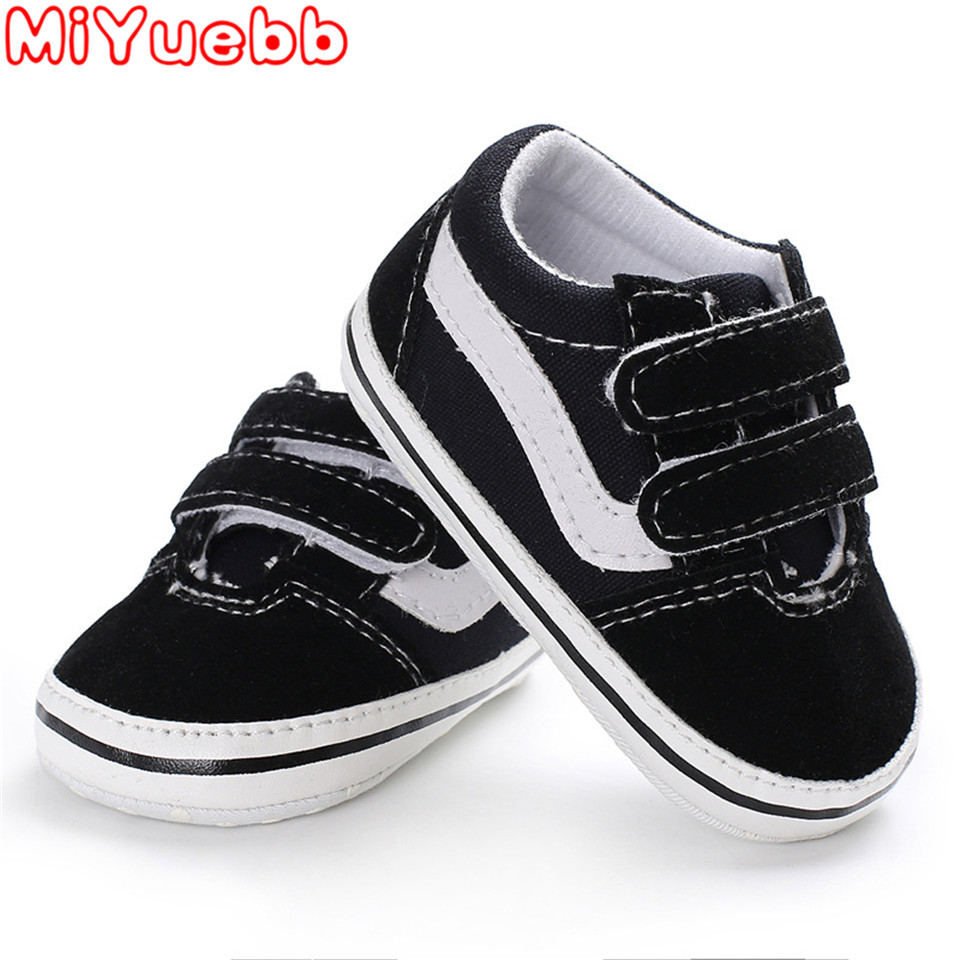 Baby Sneakers Shoes Lovely Newborn Baby Boy Girl Shoes Kids  Simple Solid Canvas Anti-slip Comfortable Soft Shoes Sneaker 2019 D