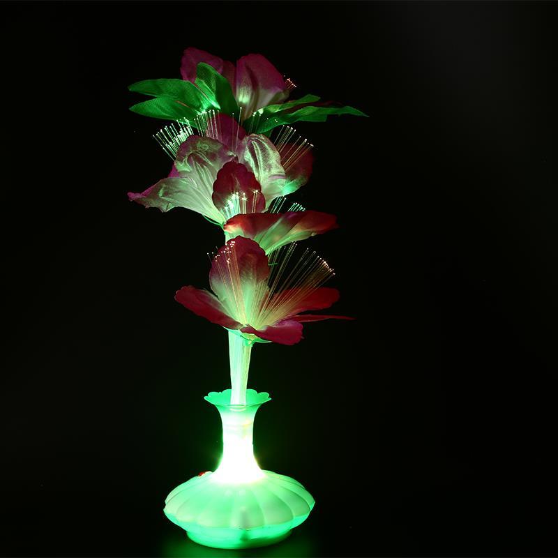 Светодиодный ная волоконная ваза Kapok для цветов, оптоволоконная лампа, цветное украшение для сцены