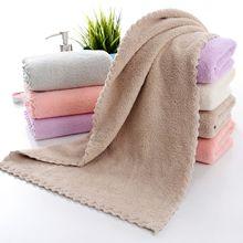 Полотенце из Корал-флиса плотная мыть лицо полотенце мягкое Впитывающее домашних парных универсальное полотенце не ворса, не выцветает