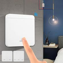 Smart Wireless Remote Control button switch EV1527yk Switch Panel Wall Mounted Built-in Battery 86mmx86mm white mounted blank wall switch panel plate