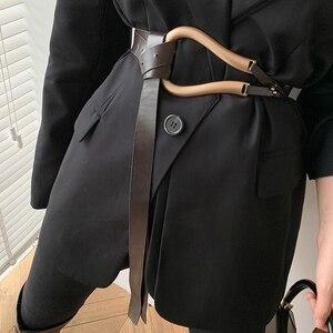 Image 4 - Ladies Metal Buckle Belt Luxury Casual Trendy Womens Clothing Accessories Belts for Dress&Blazer Cinturones Para Mujer