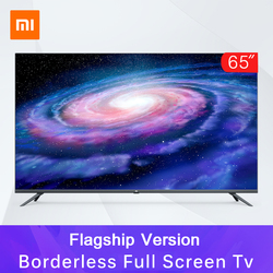 Original Xiaomi Tv 4  65inche Borderless Full Screen Real 4K HDR TV Set 2GB+16GB Memory AI Metal Body Voice Control Dolby Sound 3