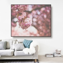 Cassisy Canvas Art Oil Painting Blooming flower,Light Bokeh Art Poster Picture Wall Decor Modern Home Decoration For Living room