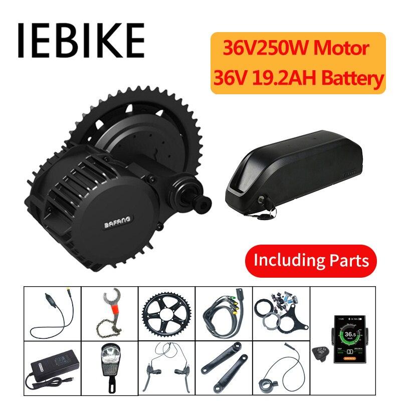 Neue Version Bafang Bbs01 36V250W E-bike Motor für Elektrische Fahrrad 8fun Mitte Antrieb E Bike Conversion Kit mit 36V20AH Batterie