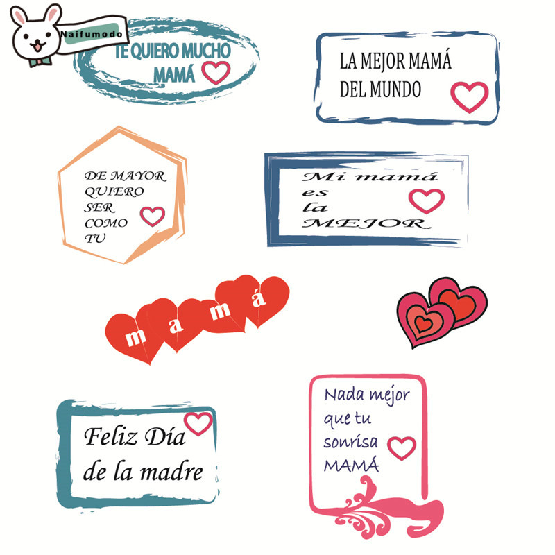 Naifumodo Clear Simple Words Stamps Rubber Stamp Scrapbooking Album Decor Stamps Transparent