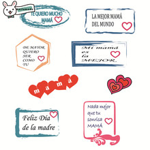 Naifumodo Clear Simple Words Stamps Rubber Stamp  Scrapbooking Album Decor Transparent