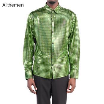 Allthemen Autumn New arrival Mens Slim Dress Shirt Men Clothing Wedding  Stylish Tops Party Shirts Long Sleeve