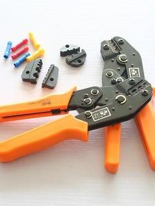 Ratcheting-Wire Crimper-Tool Dies Ferrule-Terminals Heat-Shrink-Connectors Interchangeable
