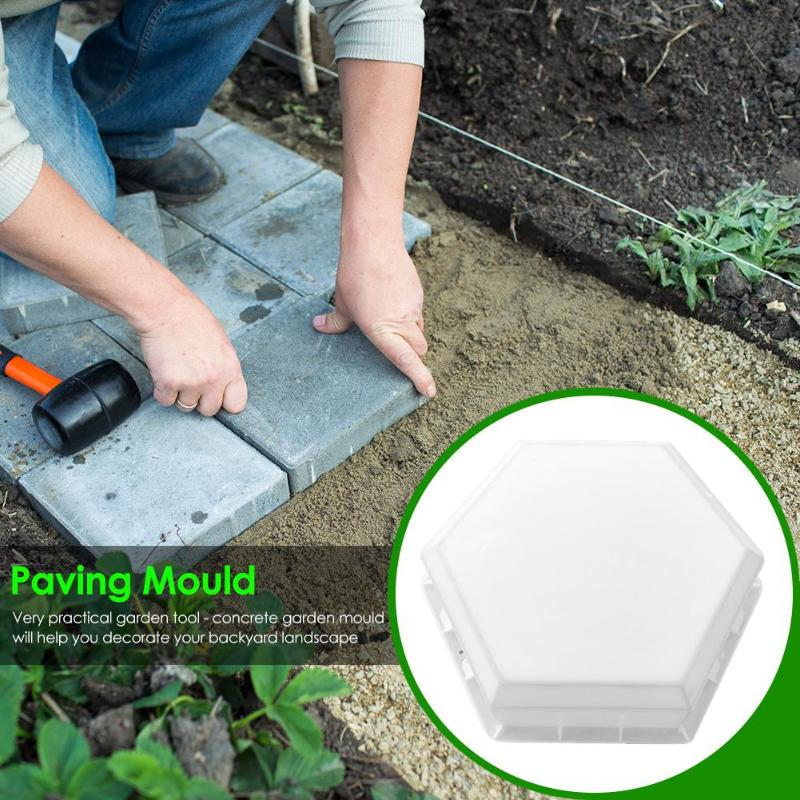 DIY Paving Moulds Wide Scope of Application Lightweigh Delicate Home Garden Path Reusable Concrete Cover Hexagon-shaped Mold