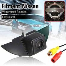 170 ° IP68 CCD Объектив Камеры Переднего Вида с логотипом автомобиля для Nissan Tiida Pathfinder Fairlady Livina Geniss X-trail Qashqai Pulsar