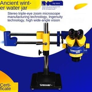 O microscópio trinocular da categoria industrial da base móvel multi-direcional da categoria industrial pode ser conectado à câmera MC75T-L2
