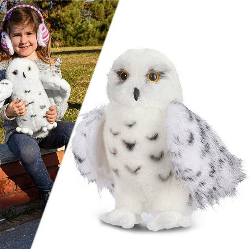 12 Inch Quality Harried Wizard Snowy White Plush Hedwig Owl Toy Potter Large Adorable Stuffed Animal Bird Soft Perfect Gift