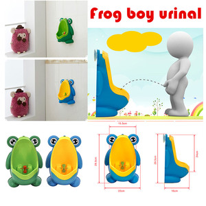 Baby Boy Potty Toilet Training Frog Children Stand Vertical Urinal Boys Penico Pee Infant Toddler Wall-Mounted(China)