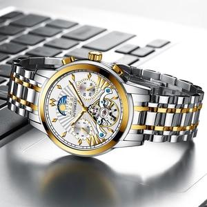 Image 3 - LIGE Official Store Mensนาฬิกาอัตโนมัติธุรกิจเครื่องกลนาฬิกาทองนาฬิกาผู้ชายReloj Mecanico De Hombres