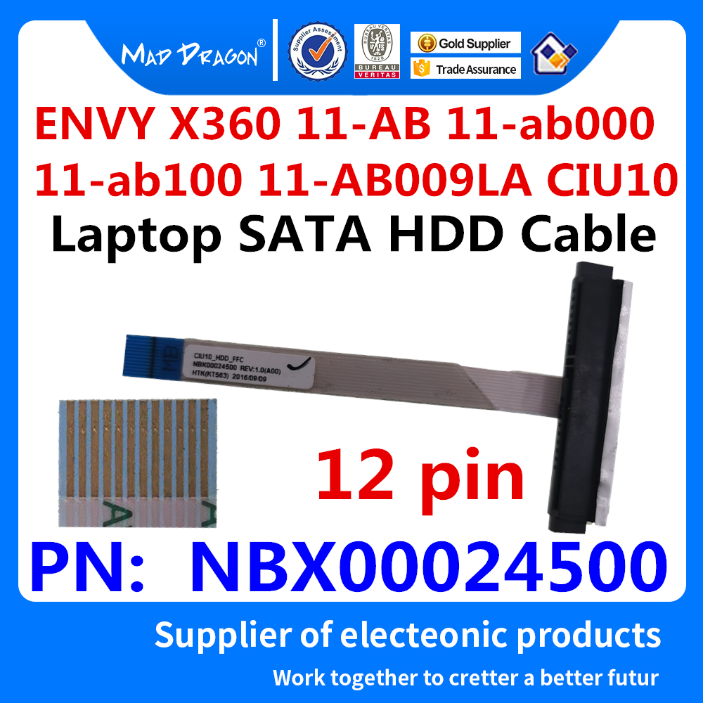 New Original SSD HHD Cable Hard Disk Drive Cable For HP ENVY X360 11-AB 11-ab000 11-ab100 11-AB009LA CIU10 NBX00024500 12 Pin