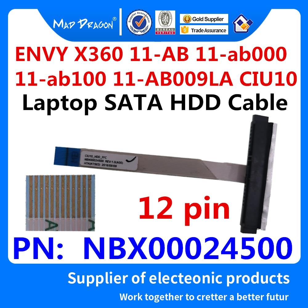 New Original SSD HHD Cable Hard Disk Drive Cable For HP ENVY X360 11-AB 11-ab000 11-ab100 11-AB009LA CIU10 NBX00024500 12 Pin