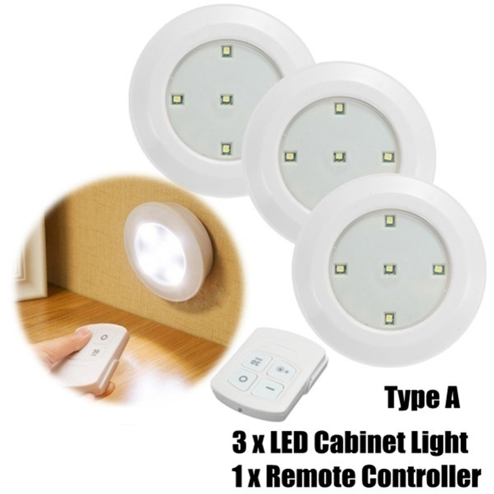Hfdfe8b7e85044d9c96852ac6dd0324bfS - 3/6Pcs LED Touch Control Round Cabinet Light Intelligent Remote Control Light Indoor Lighting Lamp Night Lamp