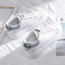 SWYIVY Frühjahr Schuhe Frau Plattform Turnschuhe Weiß 2020 Neue Weibliche Casual Schuhe Auf Chunky Ferse Weiß Schuhe Für Frau Sneaker