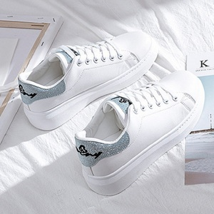Image 1 - SWYIVY Spring Shoes Woman Platform Sneakers White 2020 New Female Casual Shoes On Chunky Heel White Shoes For Woman Sneaker