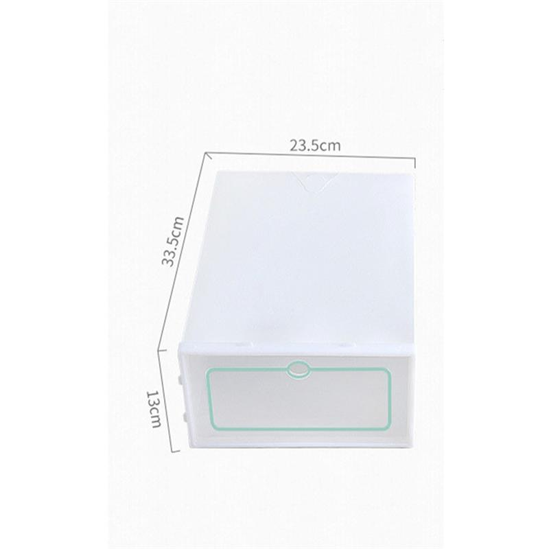 Transparent and Stackable Shoes Storage Boxes of Plastic in White Color 5