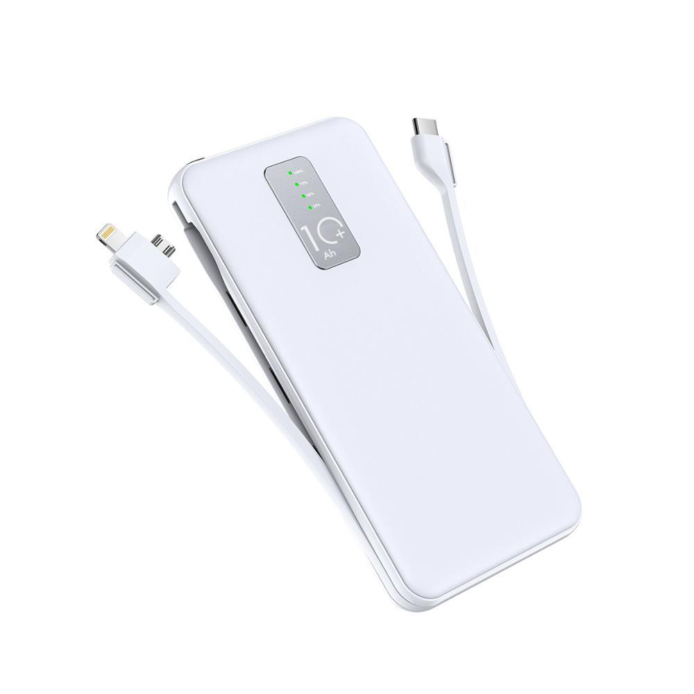 Cager 10000mAh <font><b>Power</b></font> Bank <font><b>3A</b></font> mit 3 in 1 Kabel Externe Batterie für iphone Samsung <font><b>USB</b></font> Typ C mit eingang Lade Kabel <font><b>Power</b></font> image