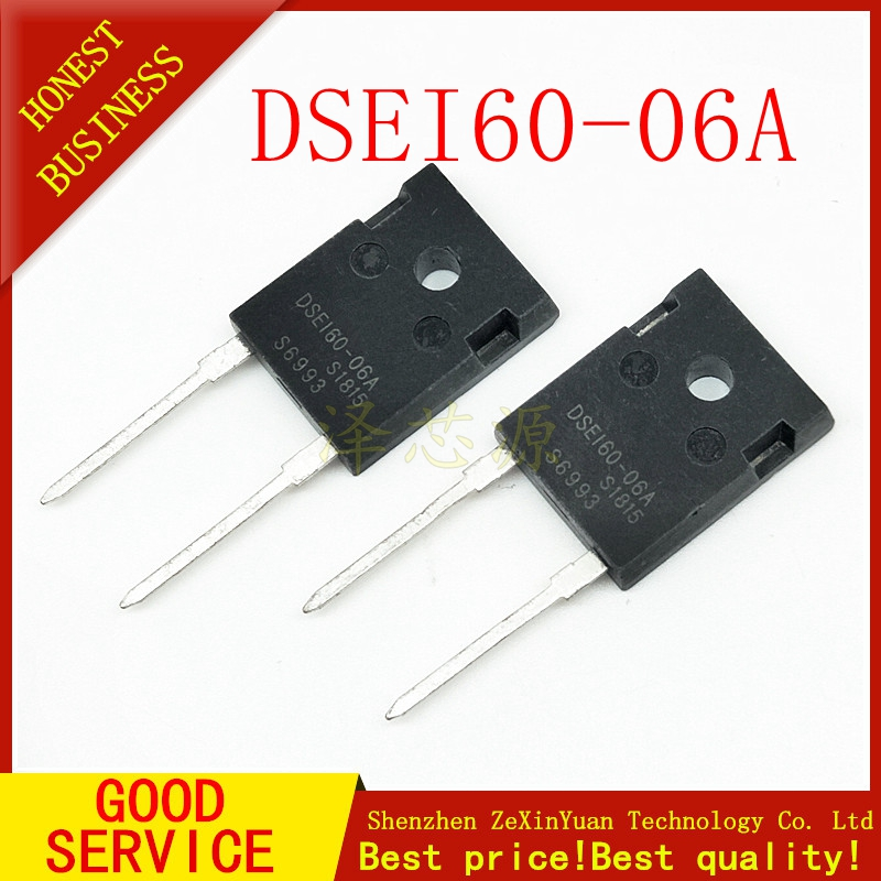 20PCS/LOT DSEI60-06A TO-247 IXYS Fast Recovery Epitaxial Diode DSEI60 06A 60A 600V