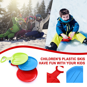 1/2/3pcs Outdoor Winter Plastic Skiing Boards Snow Grass Sand Board Ski Pad Snowboard Sled Luge For Kids/adult Gifts image
