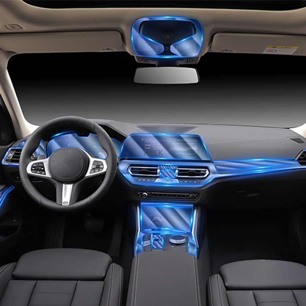 Pour BMW série 3 G20 G28 325li 325i 2019 2020 voiture porte Console centrale Film multimédia Central AC Navigation écran protection en polyuréthane thermoplastique Film