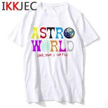 Travis Scott Fashion T Shirt women ASTROWORLD Harajuku T-Shirt WISH YOU WERE HERE Letter Print Tshirt Unisex Hip Hop Tee Tops