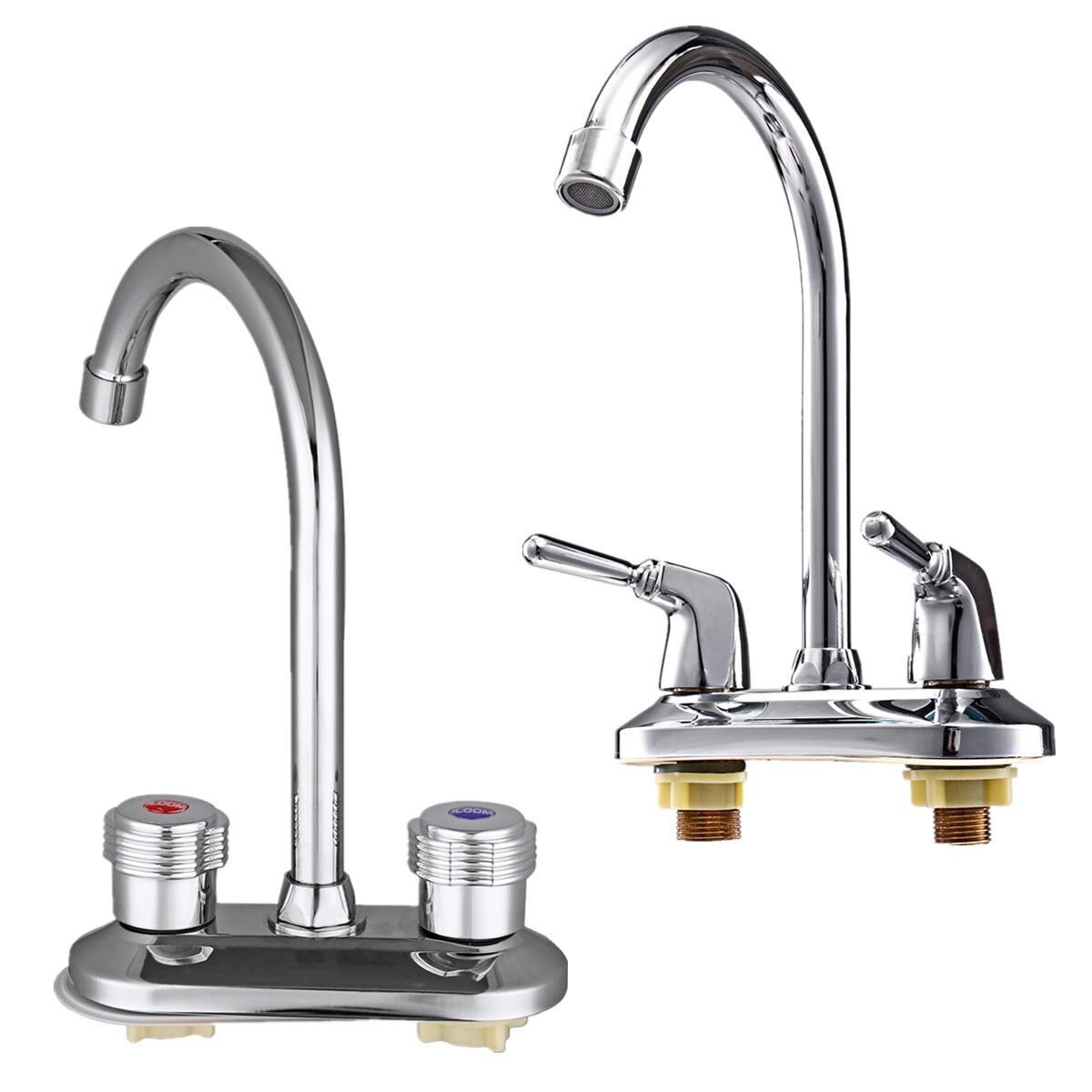 360 Вращающийся кран для раковины Носик кухонный кран с двойной ручкой кран для раковины кран для ванной комнаты Смеситель для кухни
