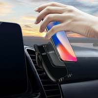 10W QI Wireless Car Charger automatic clamp Air Vent Mount Phone Holder For iPhone XS Max Samsung S8 xiaomi 9 Huawei P30 PRO