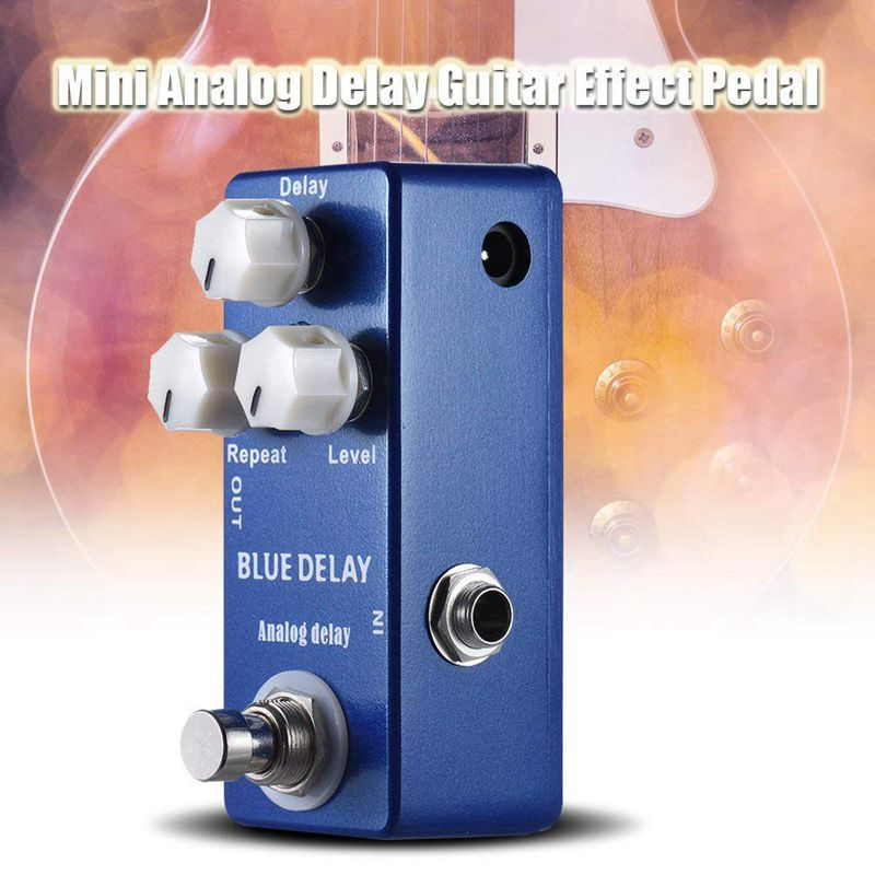 Mosky Electric Guitar Deep Blue Delay Mini Guitar DC 9V Aluminum Single Pedal Effect Pedal True Bypass