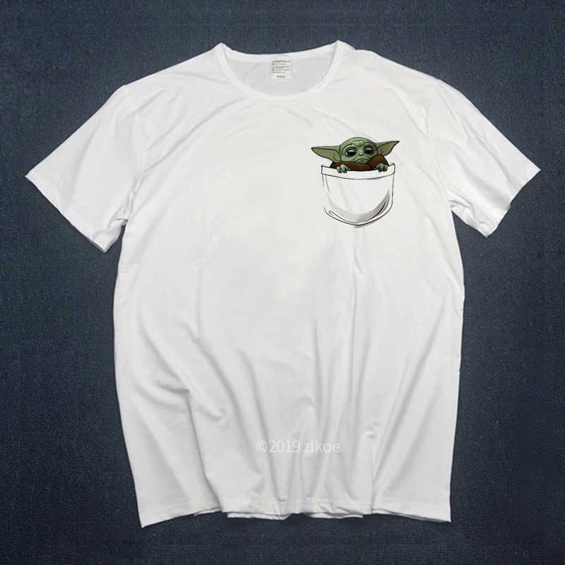 Baby Yoda T-shirt Mannen Mandalorian Tshirts Vrouwen Harajuku Star Wars T-shirt Satanist Moive Grafische Tees Mannen T-shirt Mannelijke 90 S Tops