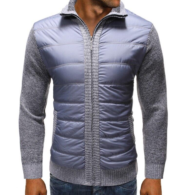 WENYUJH 2019 New Autumn Winter Down Sweatercoat Men's Thick Sweater Coat Male Zipper Sweater Jacket Outerwear Plus Size 3XL