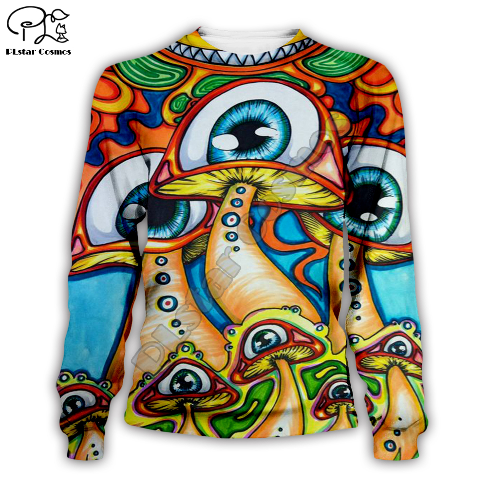 Men women trippy drawings rainbow eye shrooms print 3d hoodies harajuku tshirt native Sweatshirts zipper unisex Pullover short in Hoodies amp Sweatshirts from Men 39 s Clothing