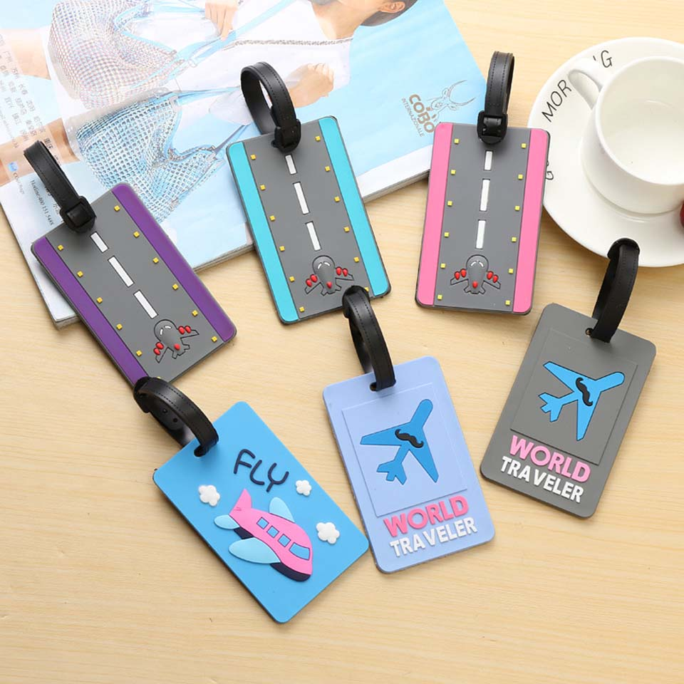 Luggage&bags Accessories Cute Novelty Rubber Funky Travel ID Addres Holder Label Straps Suitcase Luggage Tags Drop Shipping