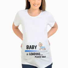 Хлопковая Футболка для беременных; лето г.; забавные белые футболки для беременных; женская футболка с буквенным принтом; Повседневная хлопковая футболка