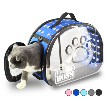 Transparent Cat Travel Bag Dog Carrier Portable Handbag Foldable  1