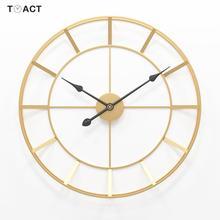 50cm grande redondo relógio de parede metal silencioso relógio de parede design moderno relógios para decoração casa escritório estilo europeuRel. parede
