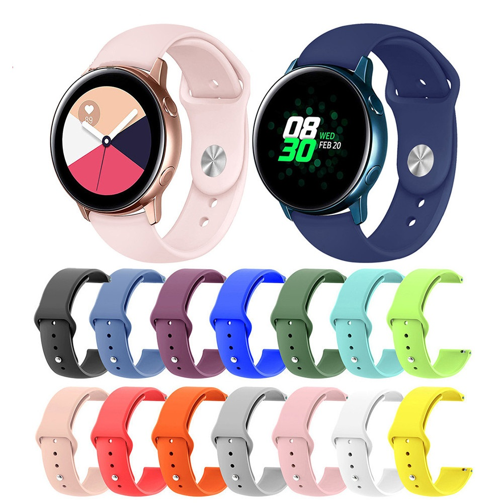 20/22mm Watch Strap Silicone Bracelet band For Huawei Watch <font><b>2</b></font>/Samsung Gear S2 straps Correa For Xiaomi <font><b>Amazfit</b></font> Bip <font><b>Bit</b></font> Pace belt image