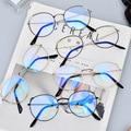 Новинка, модные женские очки, плоские линзы, корейские кошачьи ушки, ретро стиль, классическая винтажная круглая оправа для лица, оправа для ...