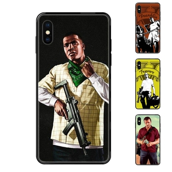 Grand Theft Auto Gta 5 V Exclusive Black Soft TPU Protective Skin For Apple iPhone 11 12 Pro 5 5S SE 5C 6 6S 7 8 X 10 XR XS image