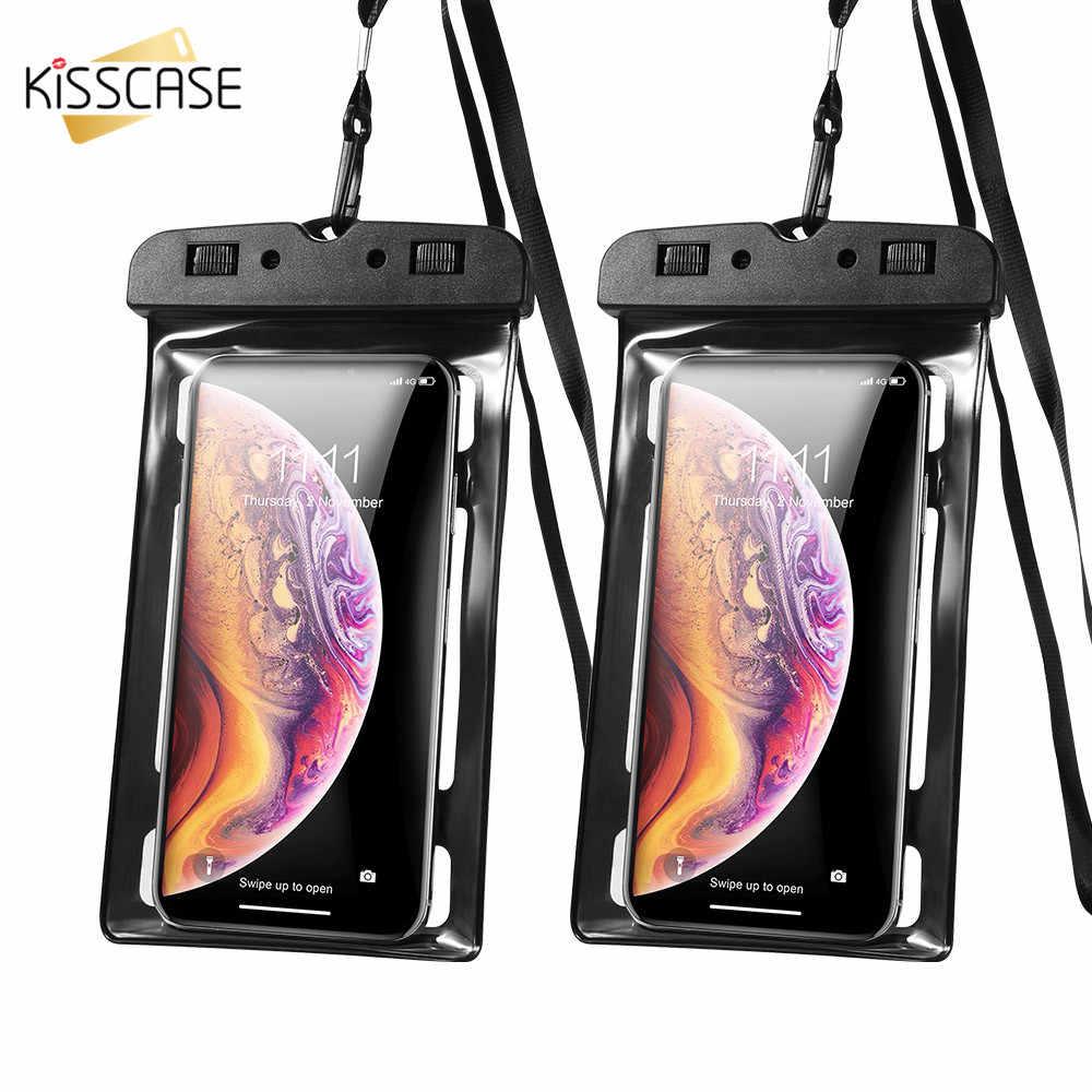 Ciuman Tahan Air Ponsel Case untuk iPhone X MAX 8 7 X Xiaomi Tahan Air Tas PVC Disegel untuk Samsung s8 S9 S10 Cover