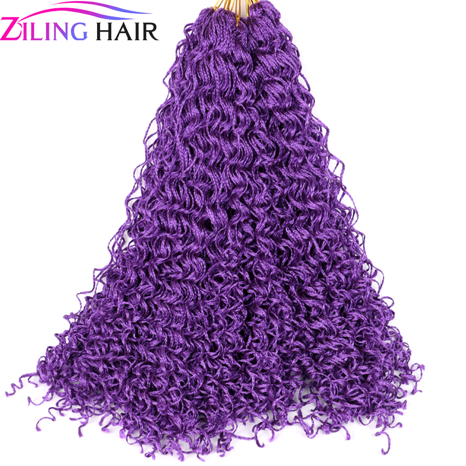 Synthetic Colored Curly Pigtails Zizi Braids Crochet Hair Extension Zizi Corrugation Box Braids Hair Stands Braids Ziling Hair
