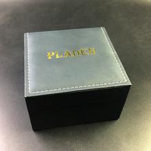 PLADEN skórzane przechowywanie zegarków pudełko typu Organizer wysokiej jakości męskie zegarki patera najlepiej sprzedające się czarne pudełka prezentowe na biżuterię tanie tanio CN (pochodzenie) Pudełka do zegarków Moda casual 17 5cm Nowy z metkami PLADEN BOX Plac 11cm Skóra Leather Box Watch Box