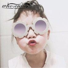 Kids Sunglasses Glitter Flower Round-Frame Toddler Shades Retro UV400 Children Girl S030
