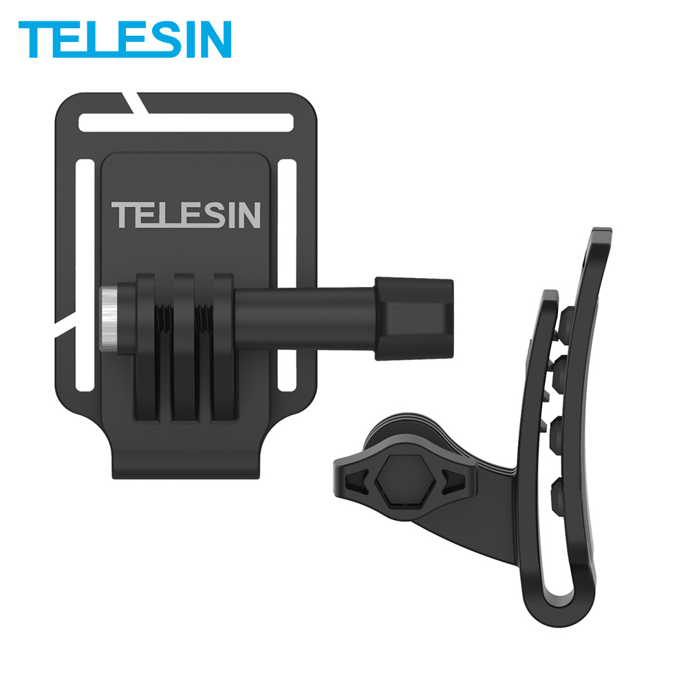 TELESIN Head Cap Mount Bracket Hat Clamp Adapter Holder Silicone PC Quick Release Skidproof For GoPro Hero 8 Osmo Action XiaoYi