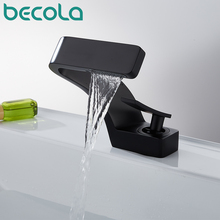 Faucet Black Tap Bathroom Mixer Gold-Basin Becola Brushed Chrome Hot-And-Cold-Water Deck