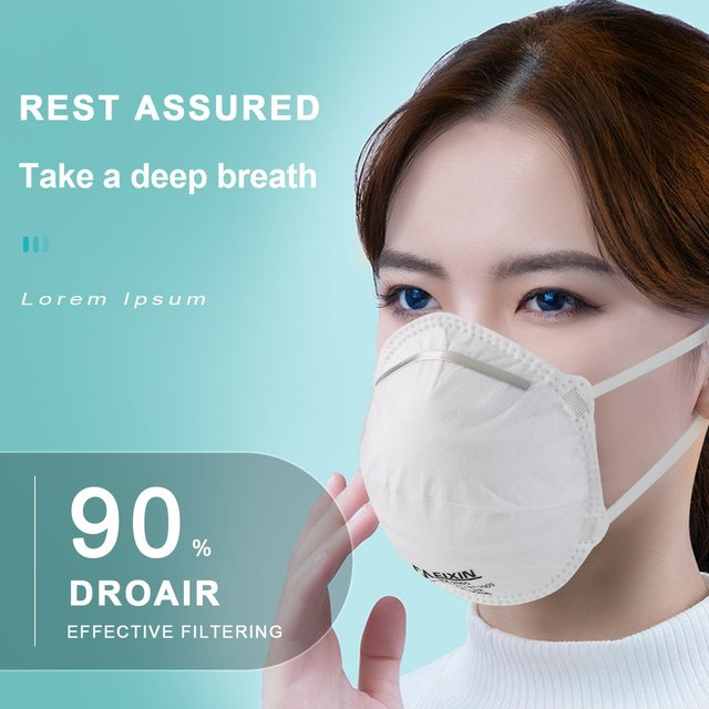 Netherlands/QSA grade round mask non-woven Dust Mask Anti PM2.5 Anti influenza Breathing Bicycle Rid Face Flu Face masks 3